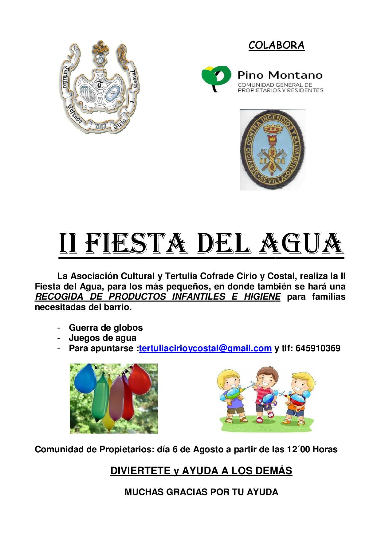 II Fiesta del Agua en la Comunidad General de Pino Montano