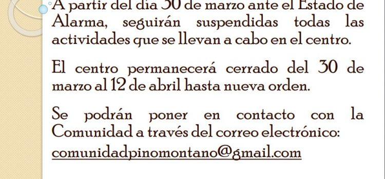 Nota Informativa Comunidad General de Pino Montano